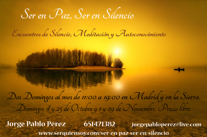Cartel Sern en Paz Ser en Silencio copia